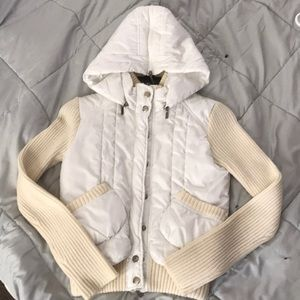 Forever 21 puffer jacket w/ ribbed sweater detail
